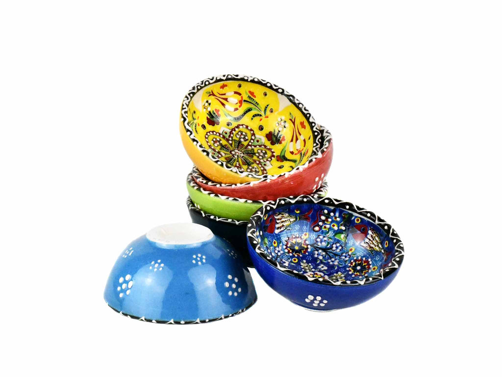 5 cm Turkish Bowls Ottoman Flower Set of 6 Ceramic Sydney Grand Bazaar