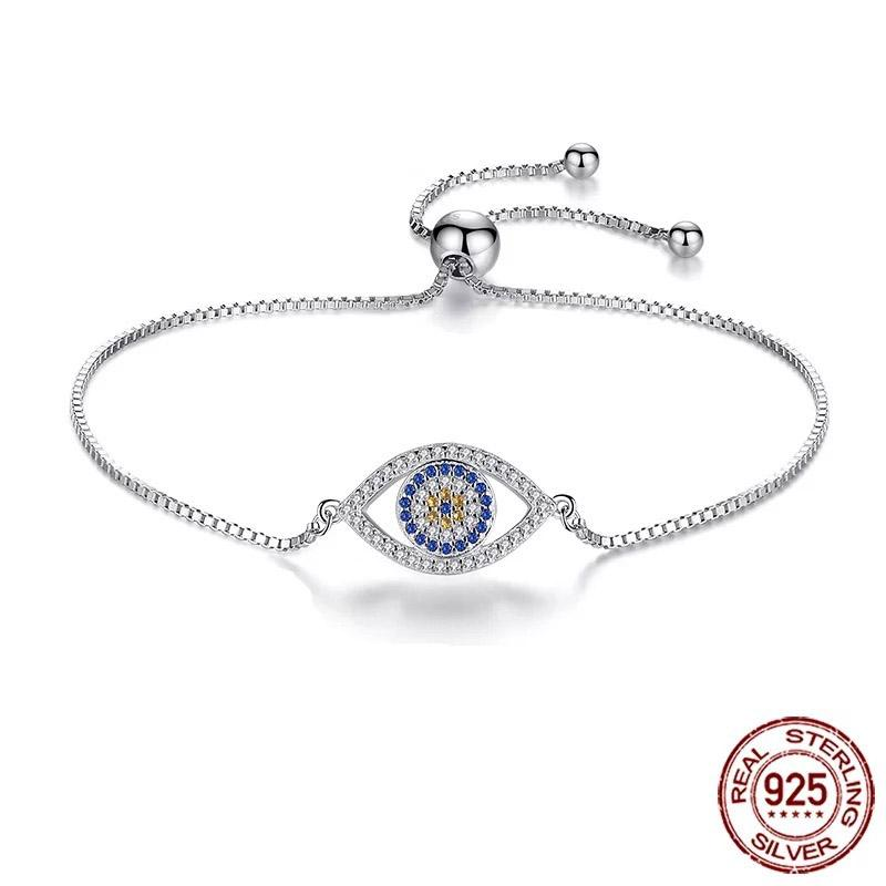 925 Evil Eye Sterling Silver Bracelet Design 2 Evil Eye Sydney Grand Bazaar