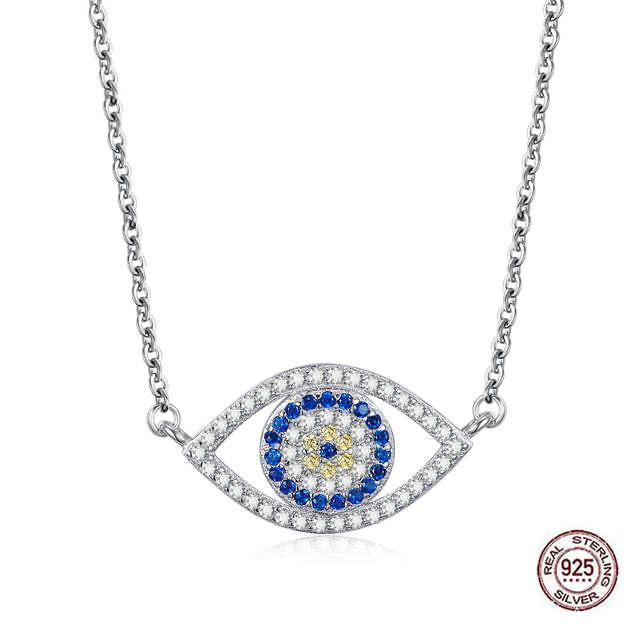 925 Silver Evil Eye Pendant Necklace Design 2 Evil Eye Sydney Grand Bazaar