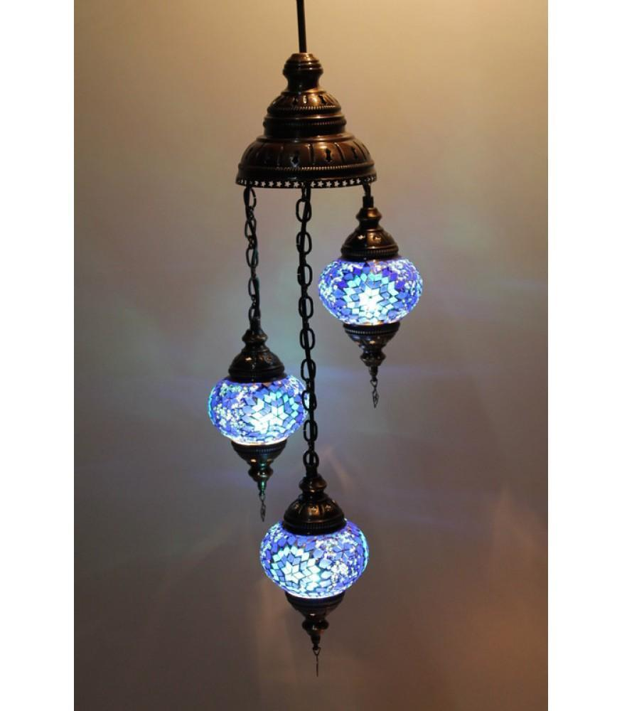 Turkish Mosaic Chandeliers Blue Colour