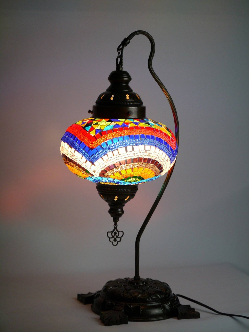 Turkish Mosaic Lamp Large Colourful