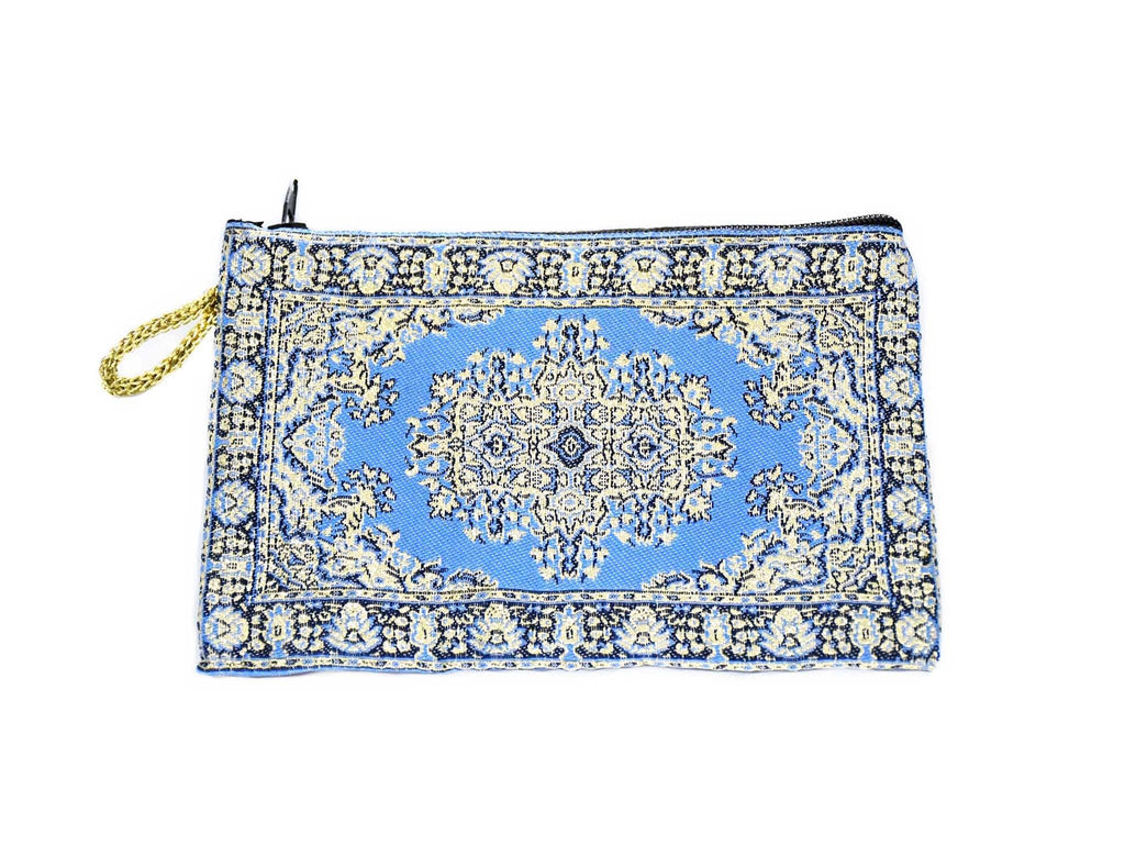 Coin Pouch Carpet Pattern Blue