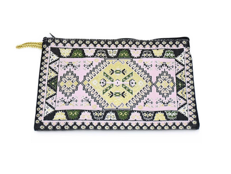 Coin Pouch Carpet Pattern Pink Green