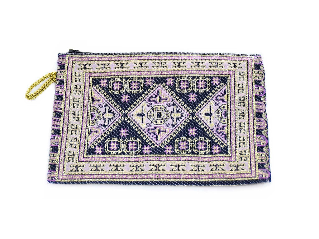 Coin Pouch Carpet Pattern Purple