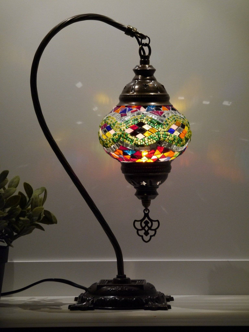 turkish lamps multicoloured glass