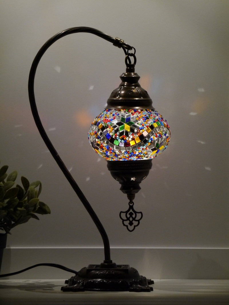 Turkish Lamp Hanging Multicoloured Round Star
