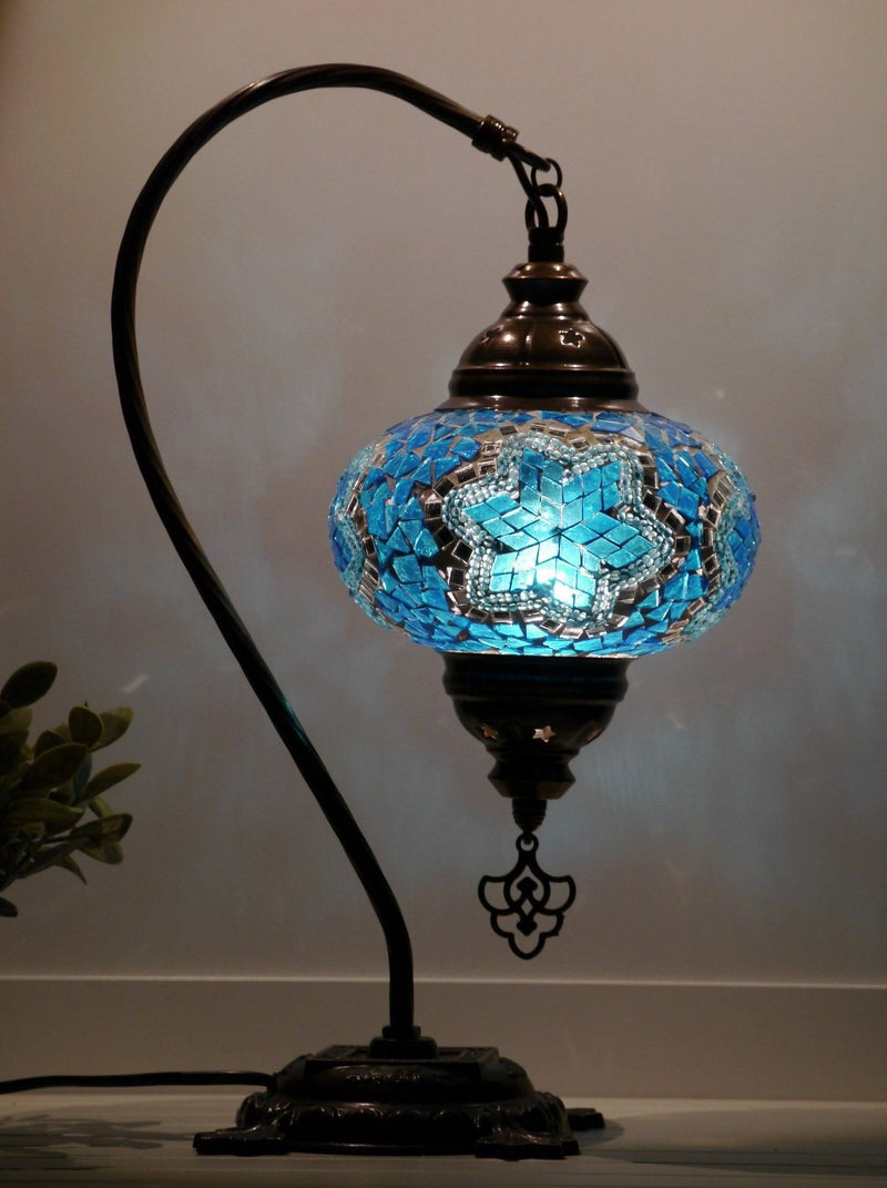 turkish mosaic lamps aqua colour onlin