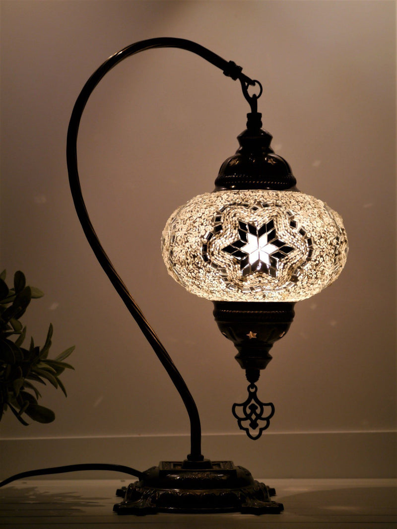 Turkish mosaic lamp white colour