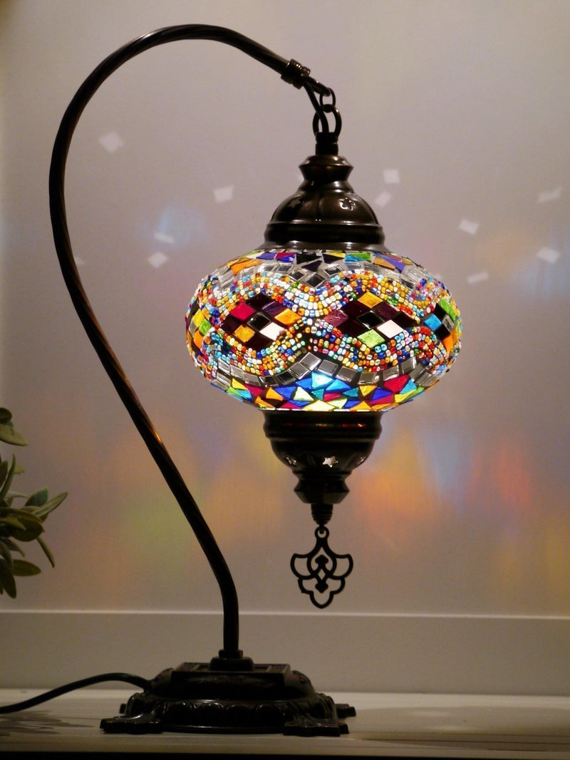 colourful turkish mosaic lamps