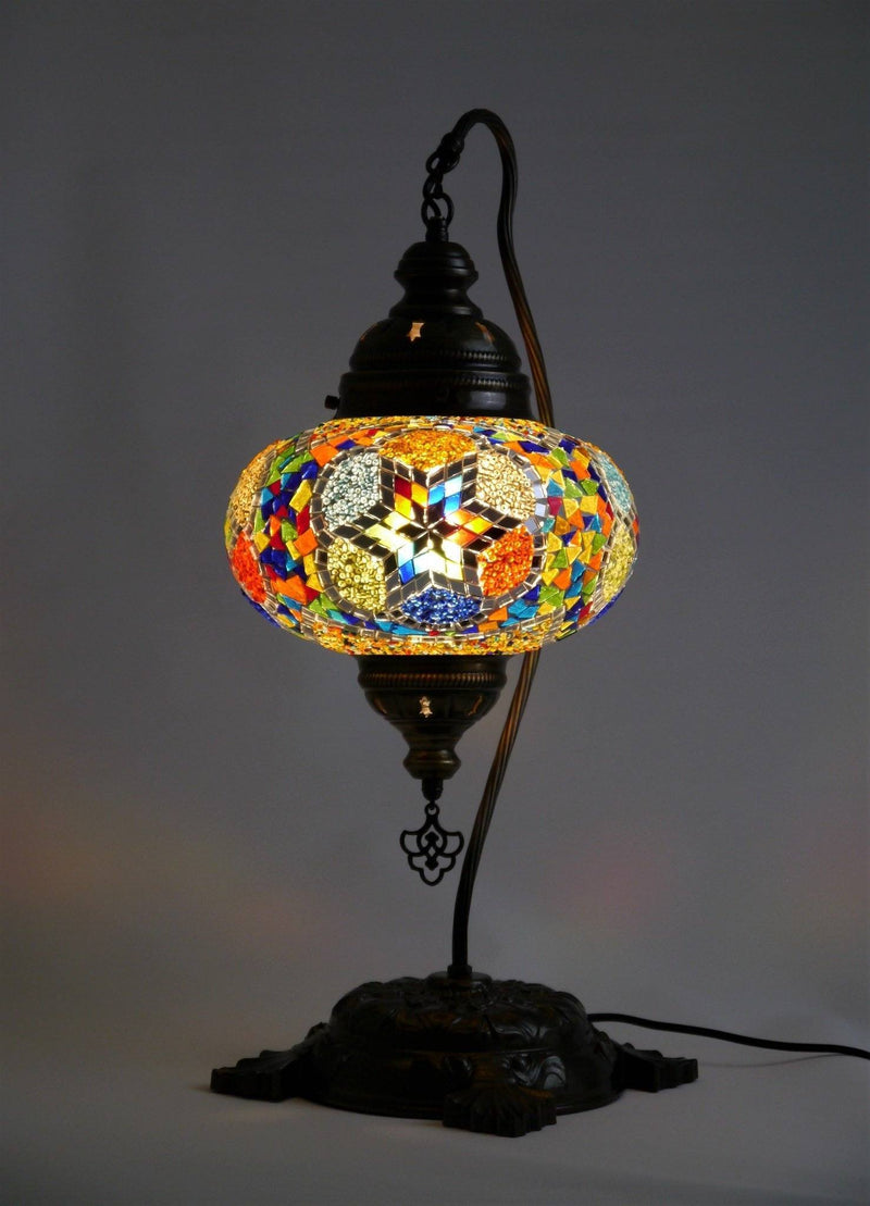 Turkish Mosaic Lamp Large Multicoloured Glass