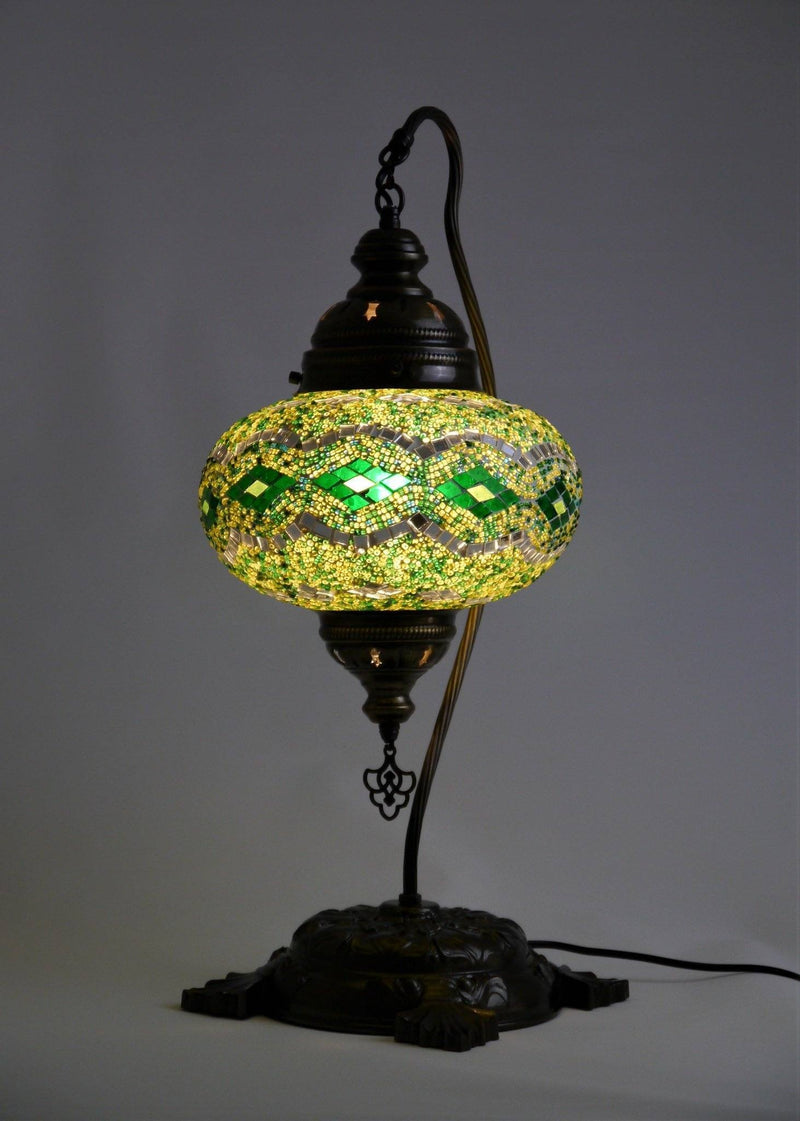 Turkish Mosaic Lamps Large Green Colour