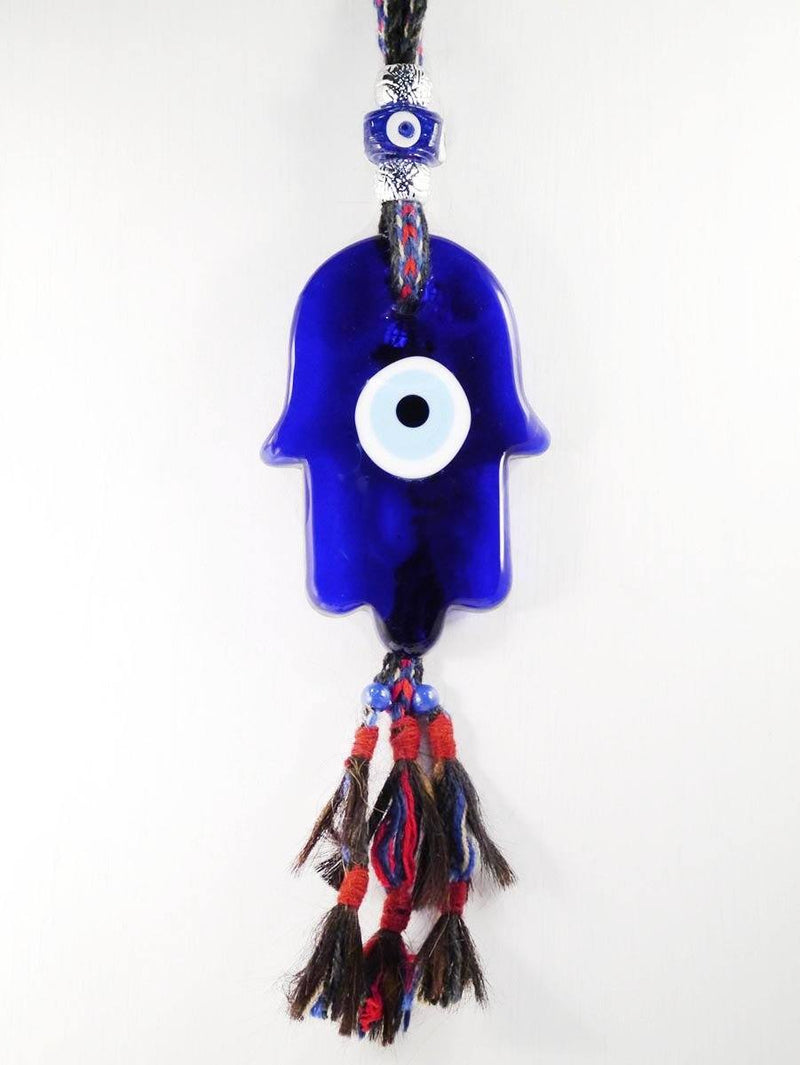 Evil eye glass hamsa hand wall decor