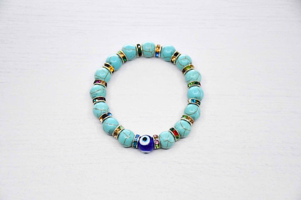 Evil eye bracelet turquoise colour