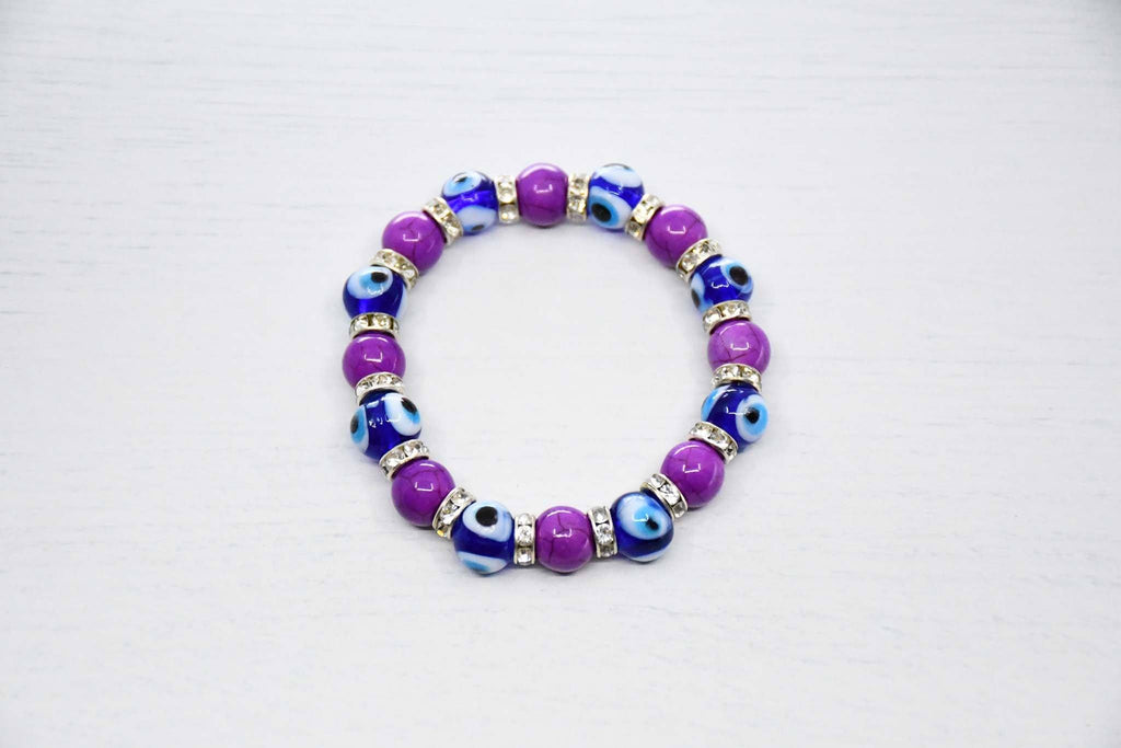 Turkish Evil Eye Bracelet purple colour