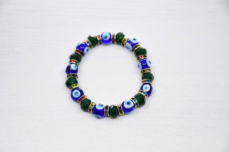 Turkish Evil Eye Bracelet Green Colour