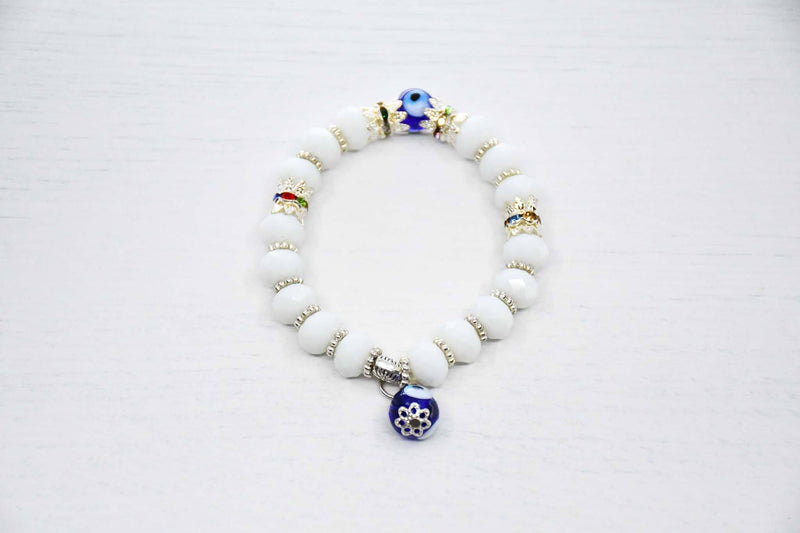 Greek evil eye bracelet white colour