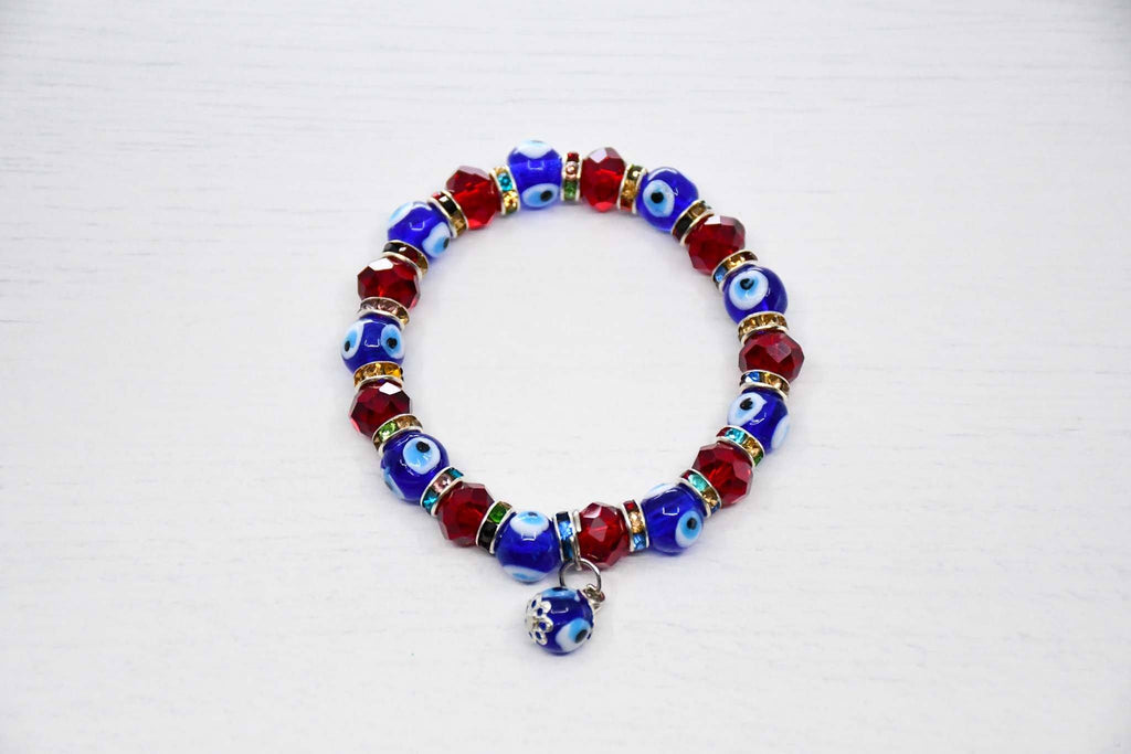 Turkish Evil Eye Bracelet Red beads