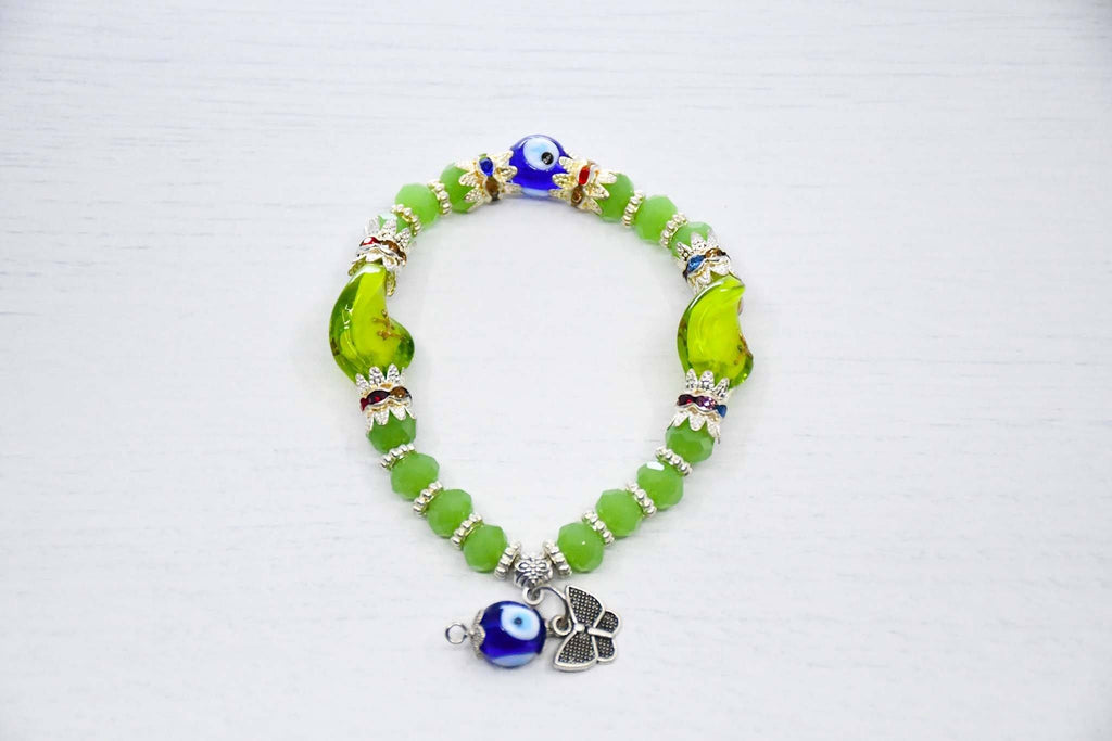 Mati Evil Eye Bracelet Green Colour Handmade