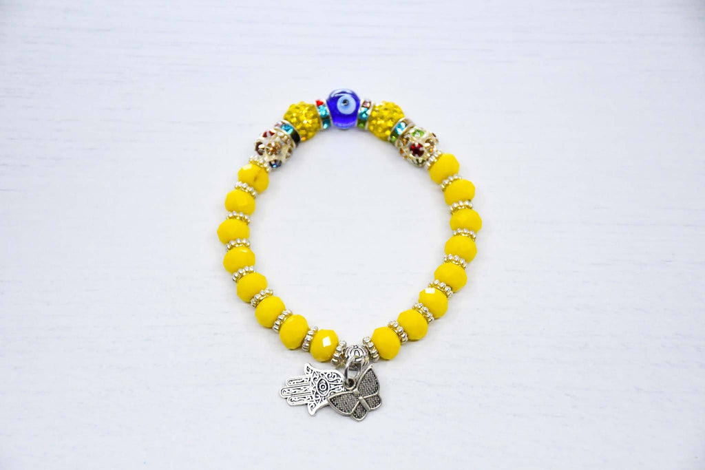 Turkish Evil Eye Bracelet Yellow