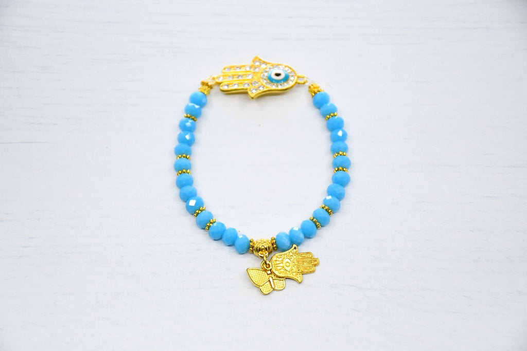 Turkish Evil Eye Bracelet Hamsa Hand