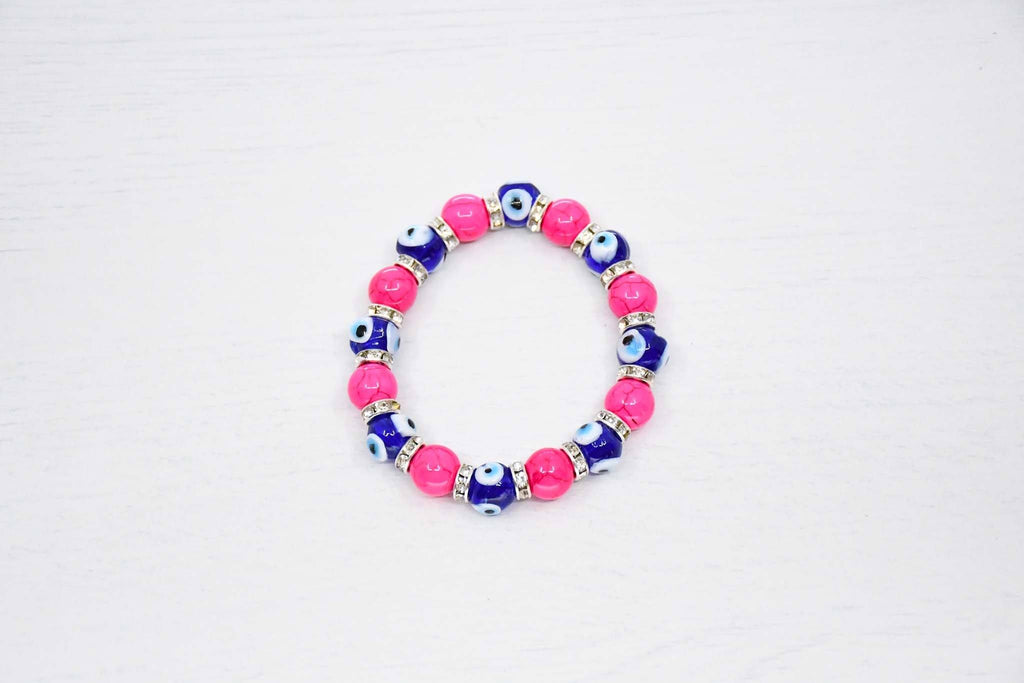 Turkish Greek Mati Evil Eye Bracelet Pink