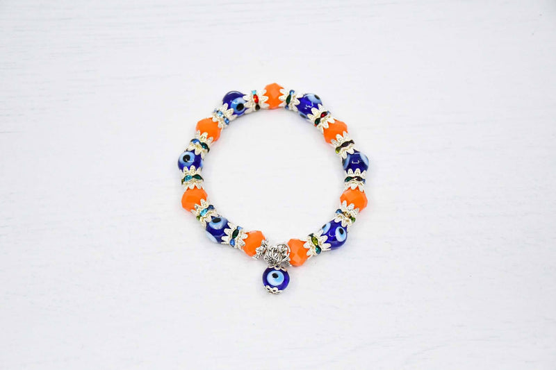 Turkish Greek Mati Evil Eye Bracelet Orange