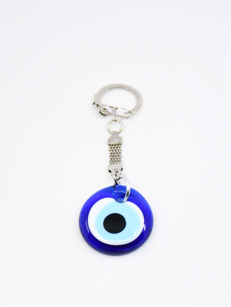 Evil Eye Plain Glass Keyring