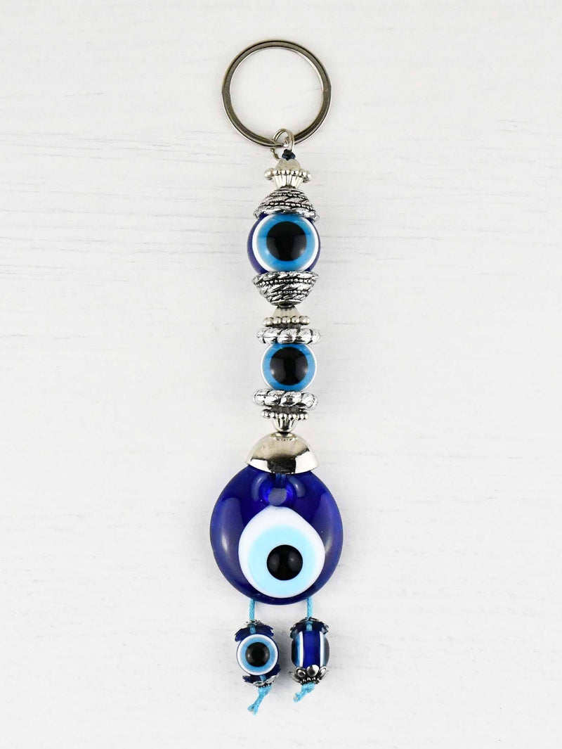 Evil Eye Keyring Double Eye Beads