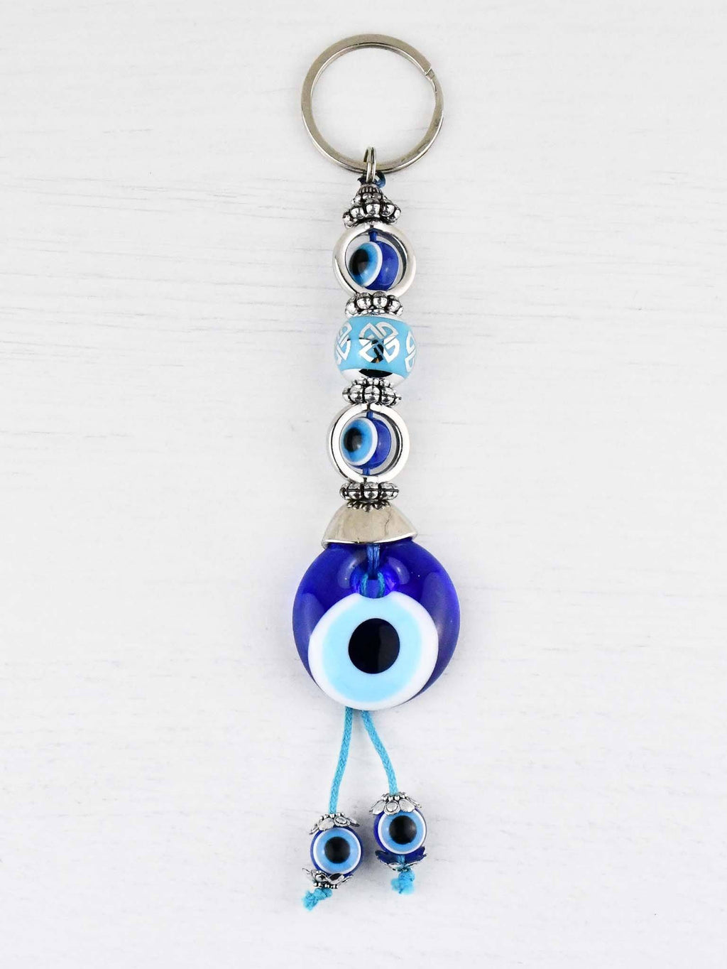 Evil Eye Keyring Small Blue Ball