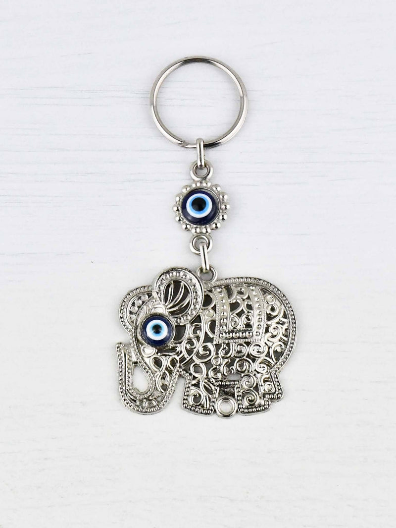 Evil Eye Keyring Elephant Metal