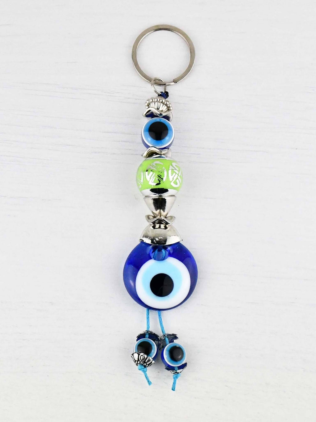 Evil Eye Keyring Large Green Ball