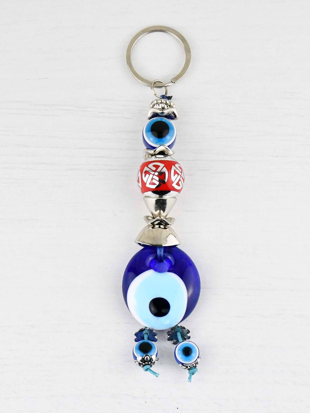 Evil Eye Keyring Large Red Ball