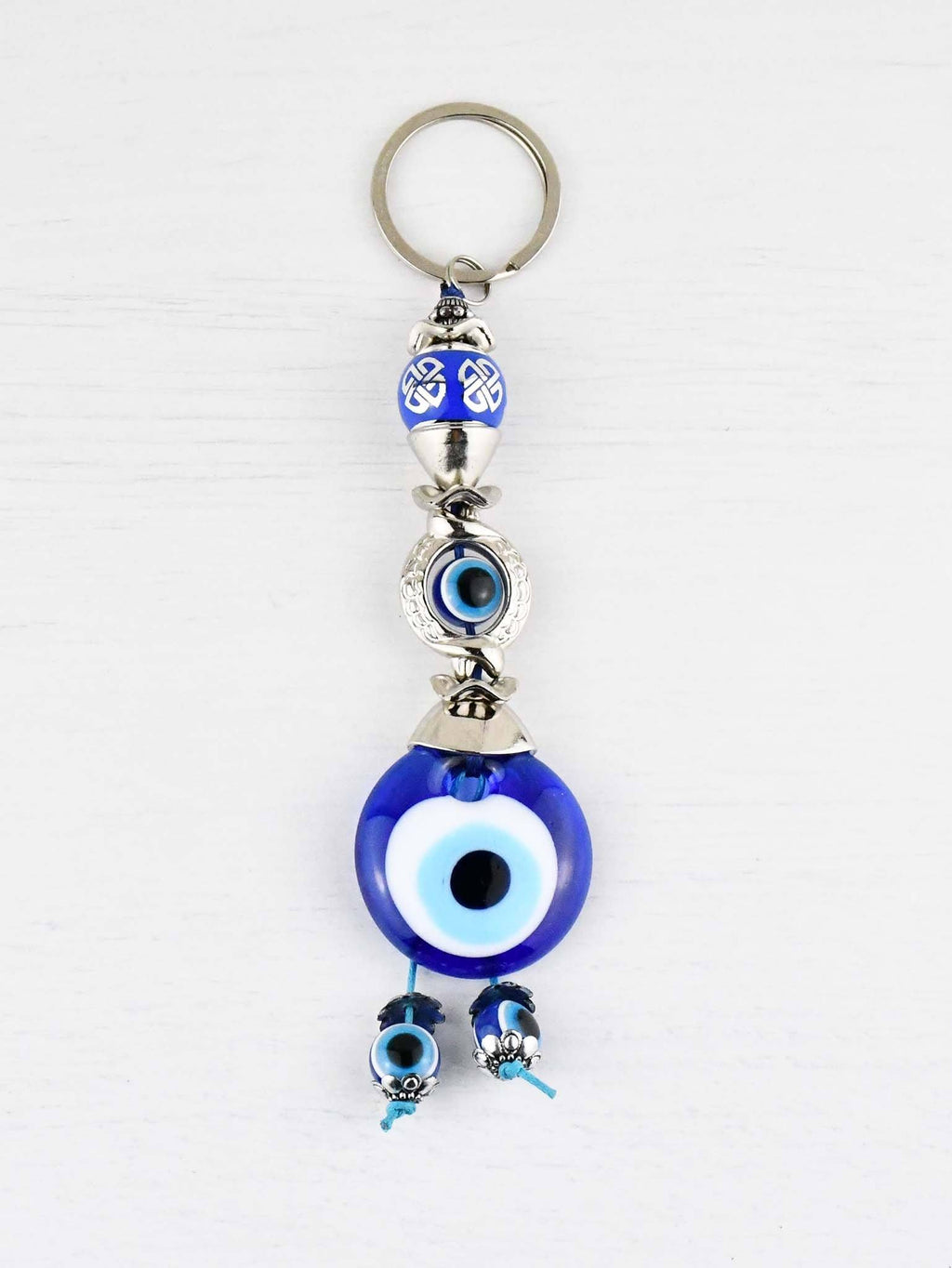 Evil Eye Keyring Eye Bead Blue Ball