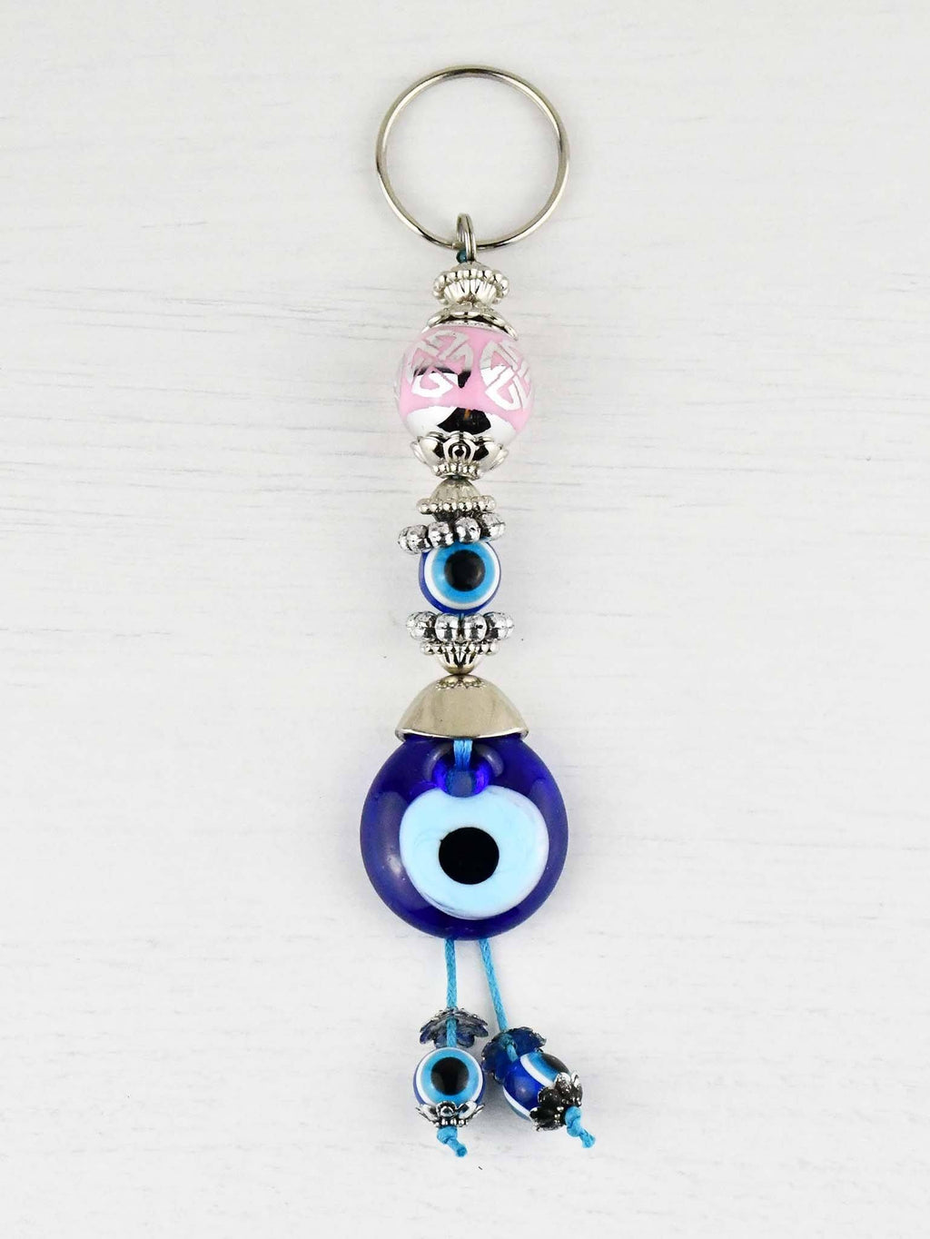 Evil Eye Keyring Large Pink Ball