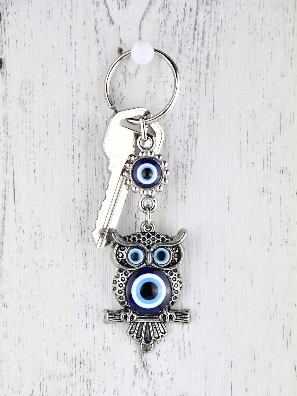 Evil Eye Keyring Owl Metal