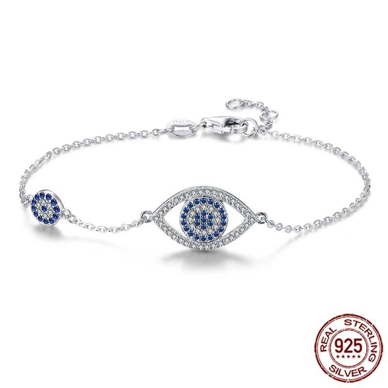 turkish evil eye sterling silver bracelet made in Turkey
