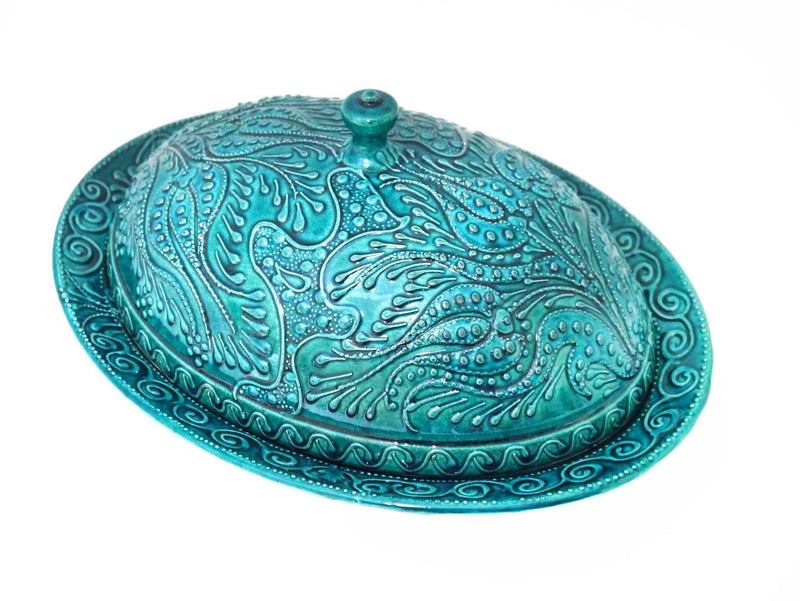 Handmade Serving Tray and Platter Turquoise Colour