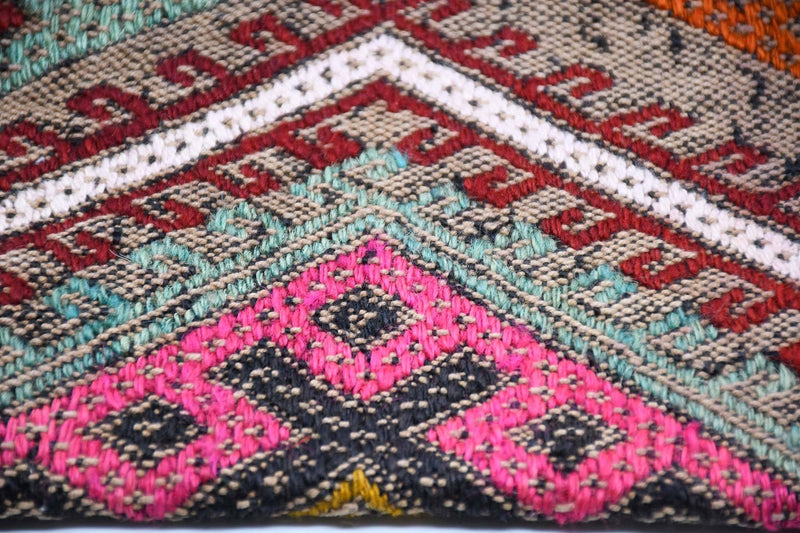 Turkish Wool Kilim Pouch Folding Design