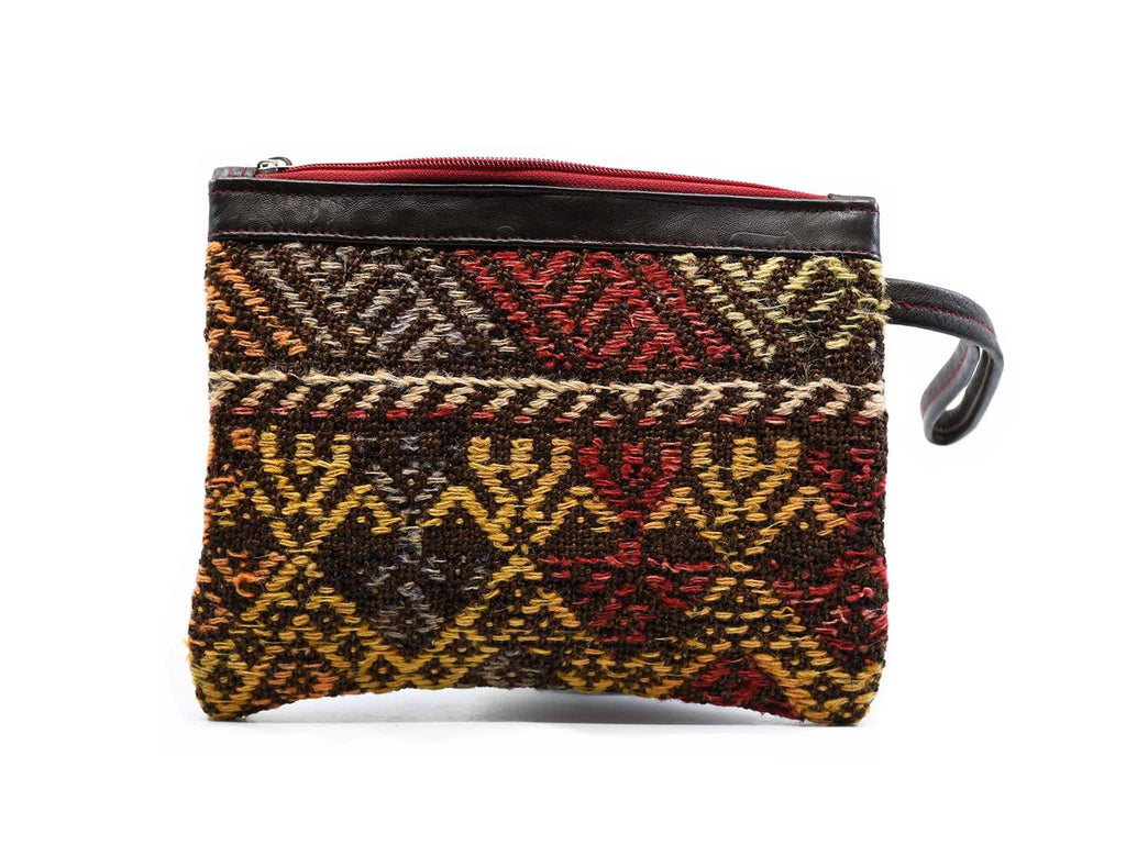 Turkish Wool Kilim Pouch Design 1