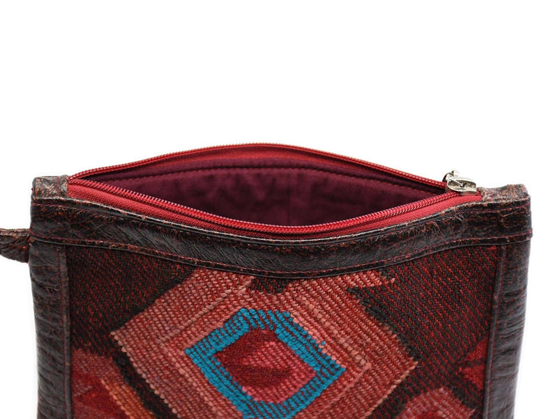 Wool Kilim Pouch Red Colour