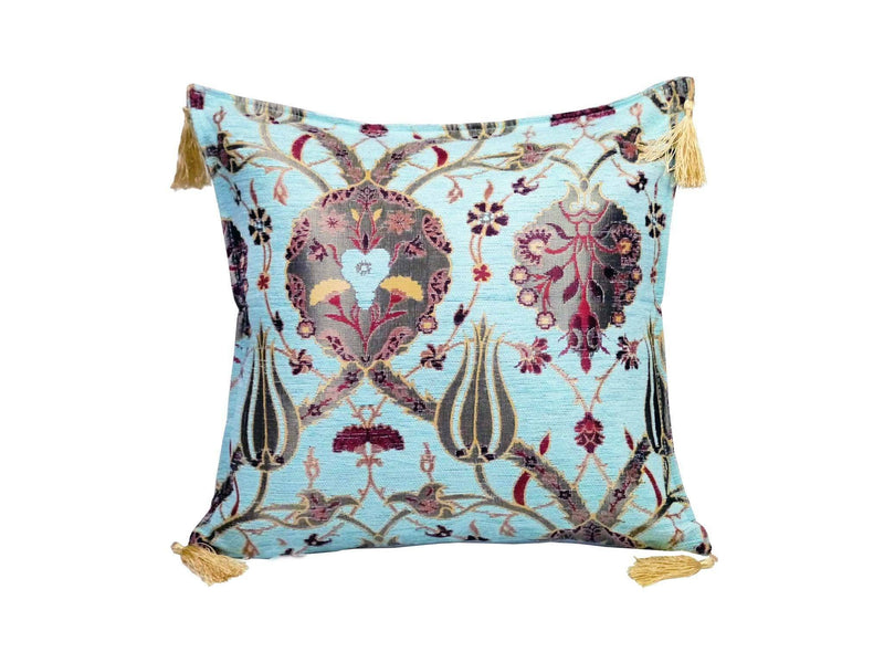 Turkish Cushion Cover Aqua Colour