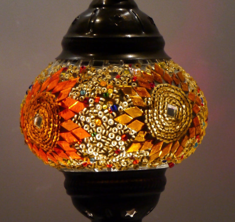 turkish mosaic lamp orange brown colour australia