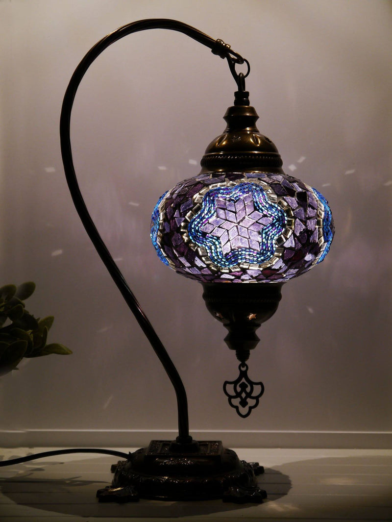 turkish lamps purple colour australia