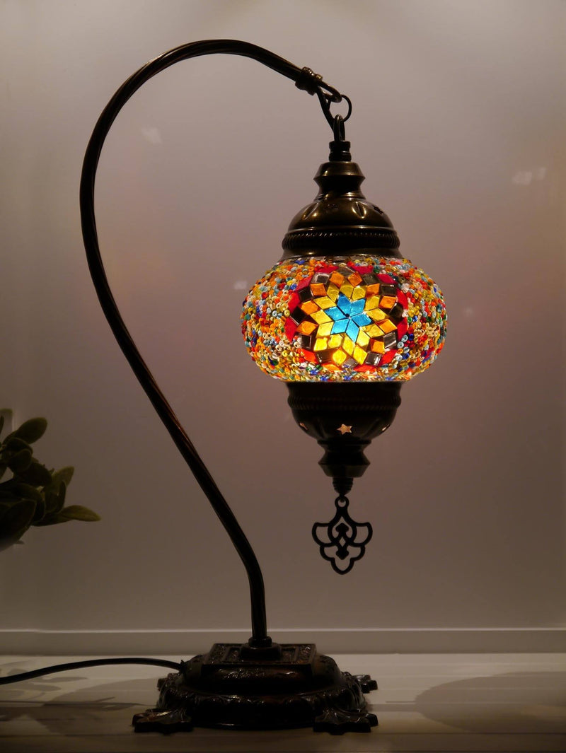 Turkish Lamp Large Green Star Beads