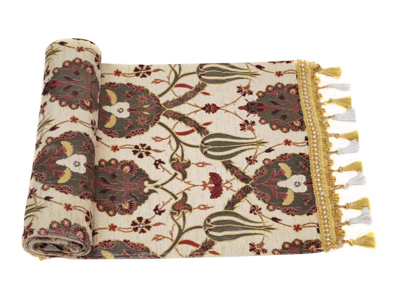 Turkish Table Runner Cream