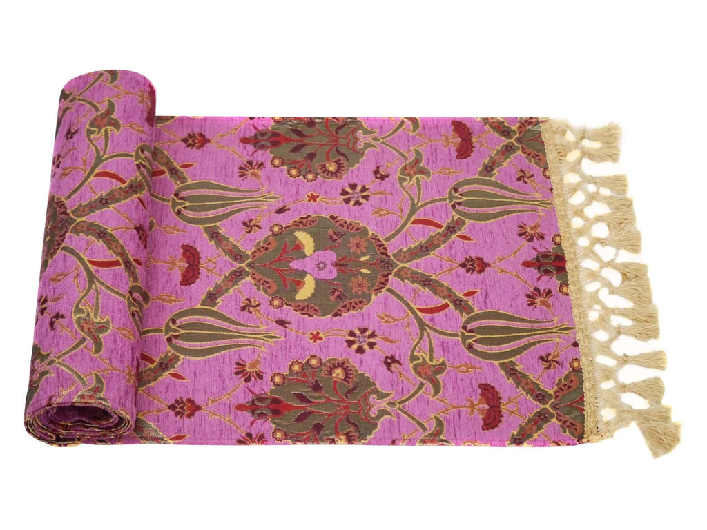 Turkish Table Runner Pink Fushia Colour