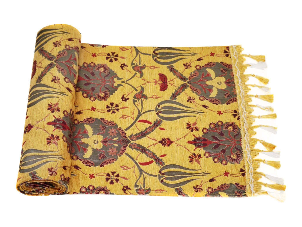 Turkish Table Runner Golden Brown