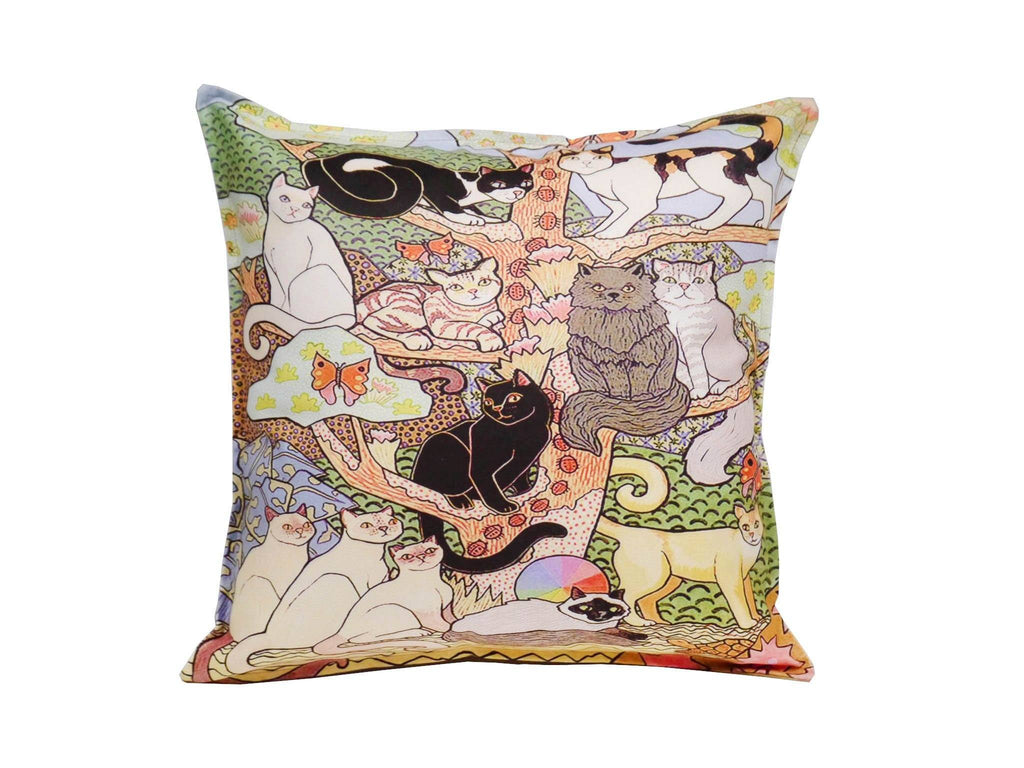 cat printed cushion cover acrylic