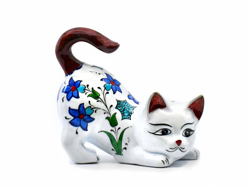 Turkish Cat Figurine Brown Tail