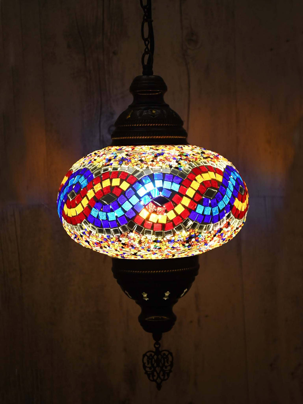 Turkish Pendant Light Colourful Blue Orange